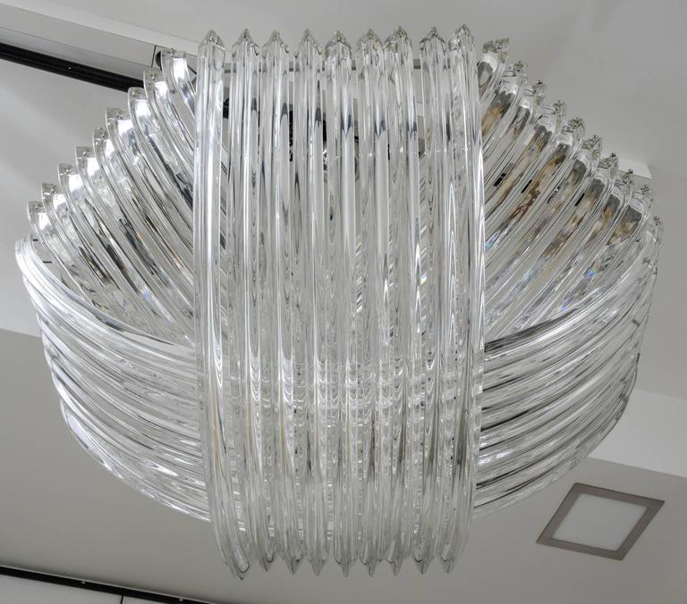Gorgeous Murano Curved Crystal Chandelier 8