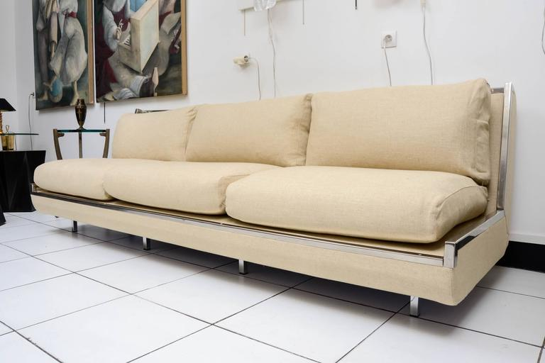 French Vintage and Rare Maison Garnier Sofa, circa 1970 For Sale