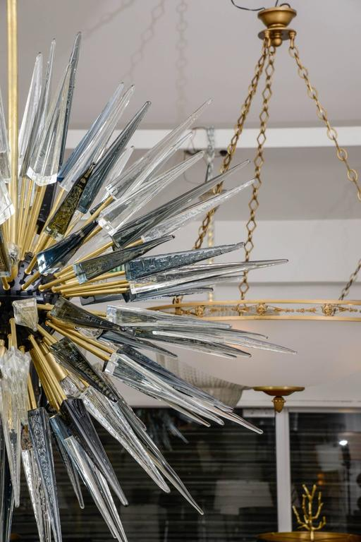Brass Exceptional Murano Glass Sputnik Chandelier For Sale