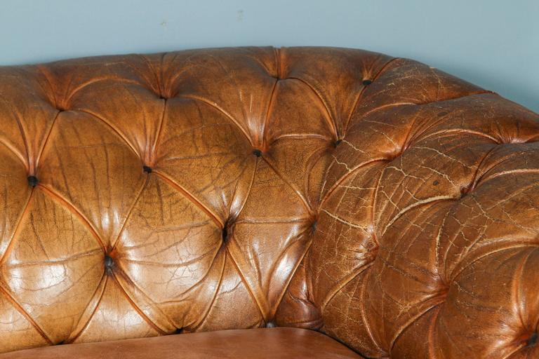 1960s Leather Chesterfield Sofa 3