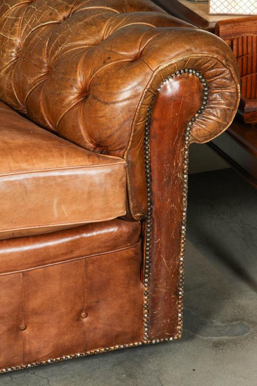 1960s Leather Chesterfield Sofa 4