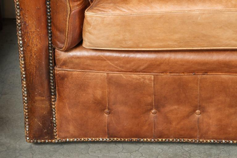 1960s Leather Chesterfield Sofa 5