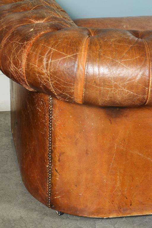 1960s Leather Chesterfield Sofa 9