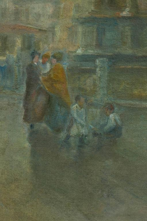 Italian Venetian Oil on Canvas,