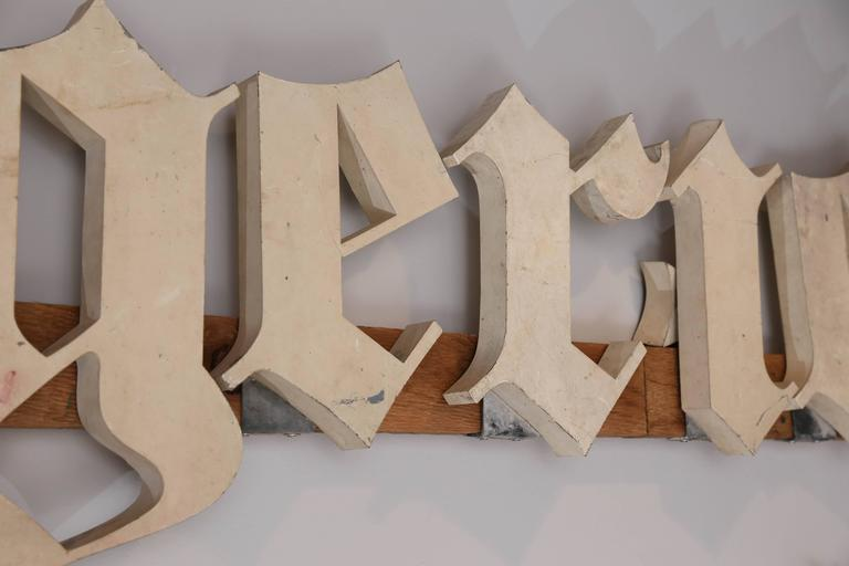 Individual Metal Letters Antique French Boulangerie Bakery Shop Sign With Individual Metal