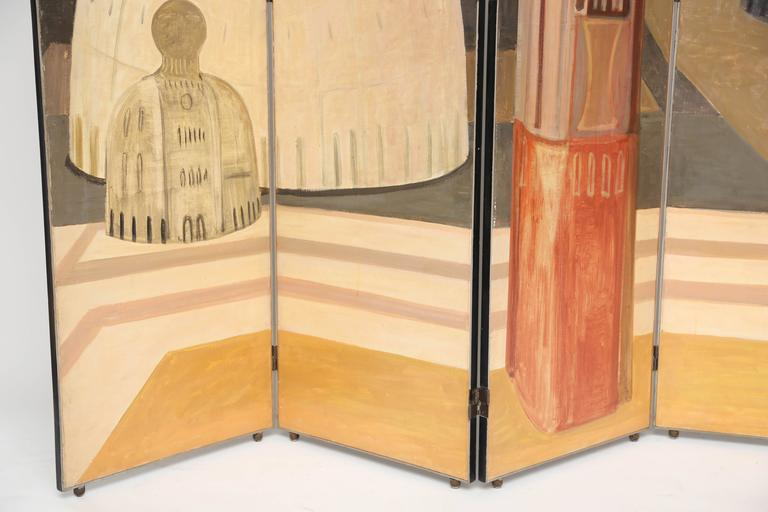 Italian Rare Salvador Fiume Four-Panel Screen For Sale