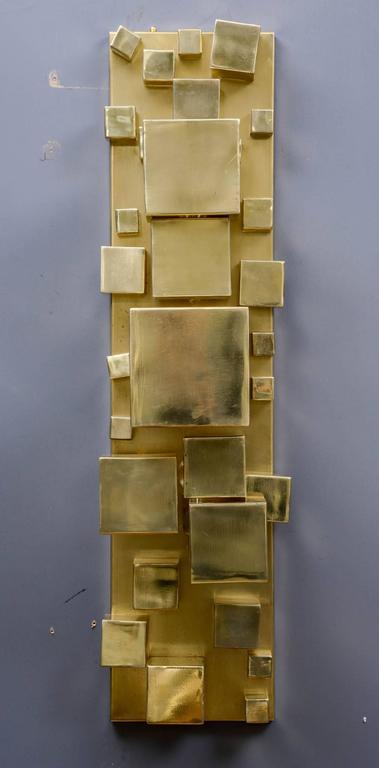 Modern Pair of Brass Sconces