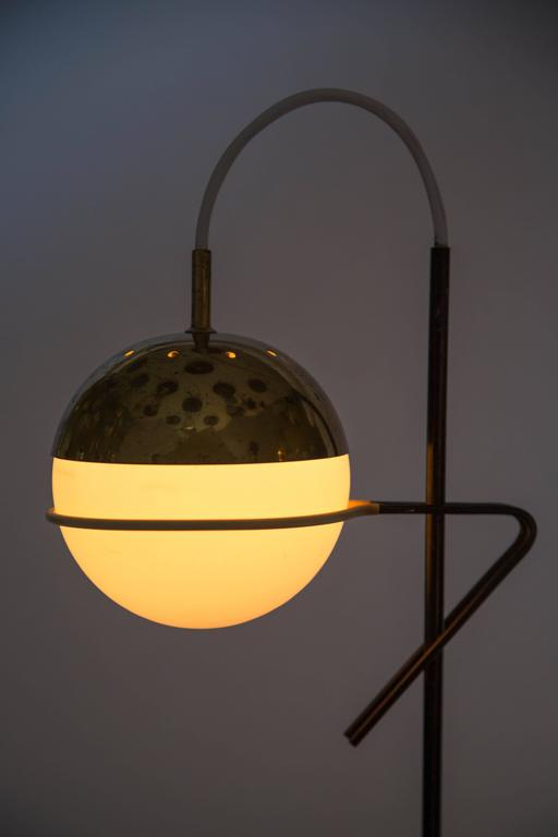Mid-Century Modern 1960s Stilux Milano Glass and Marble Table Lamp For Sale