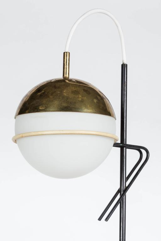 Italian 1960s Stilux Milano Glass and Marble Table Lamp For Sale