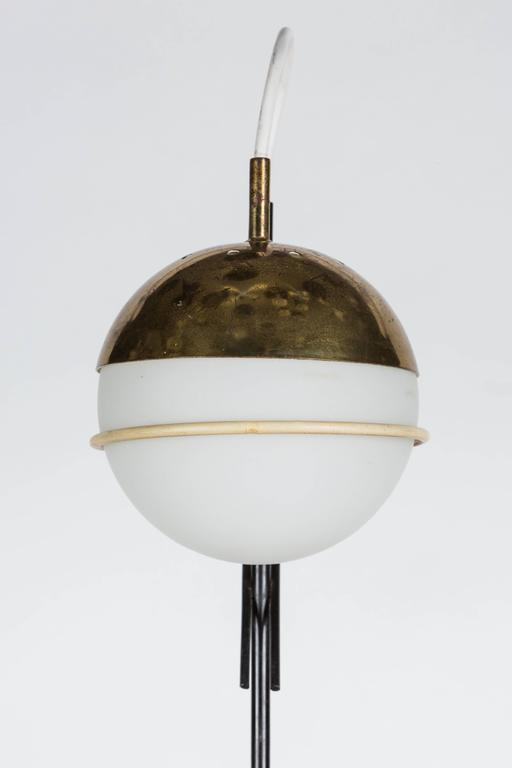 Painted 1960s Stilux Milano Glass and Marble Table Lamp For Sale
