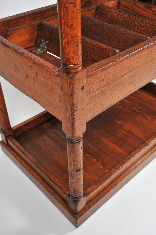 Superb 19th Century Large Oak Library Steps For Sale 5
