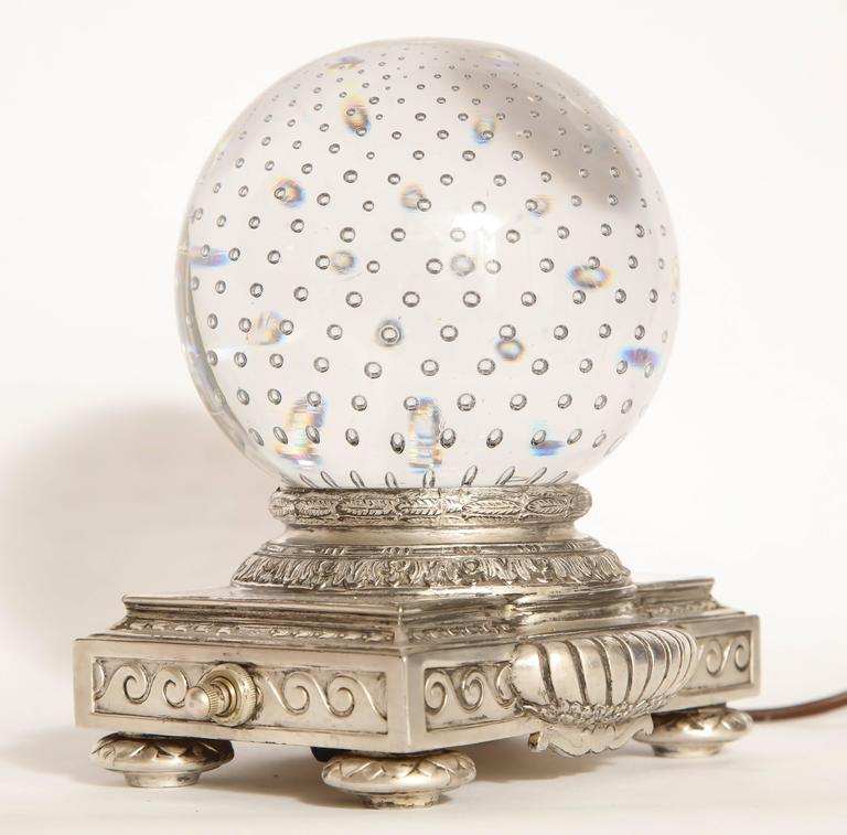 Early 20th Century Pairpoint Art Deco Glass Crystal Table Lamp For Sale