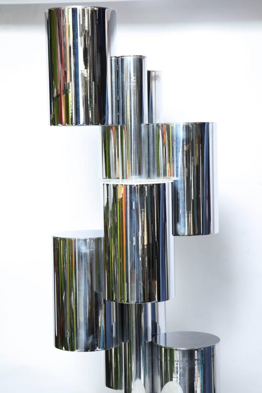 Late 20th Century Mid-Century Modern Architectural Floor Lamp Attributed to Sonneman For Sale