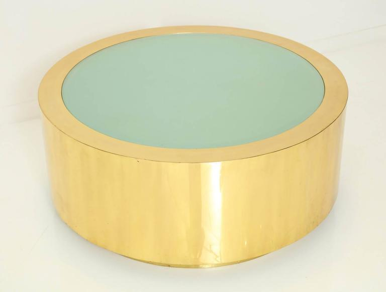 American Fabulous Brass and Glass Coffee Table by Steve Chase For Sale
