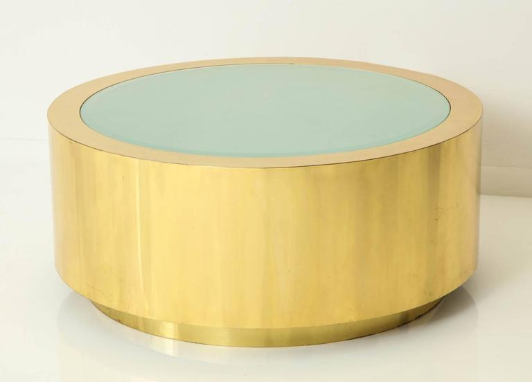 Fabulous Brass and Glass Coffee Table by Steve Chase For Sale 2