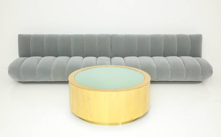 Fabulous Brass and Glass Coffee Table by Steve Chase For Sale 3