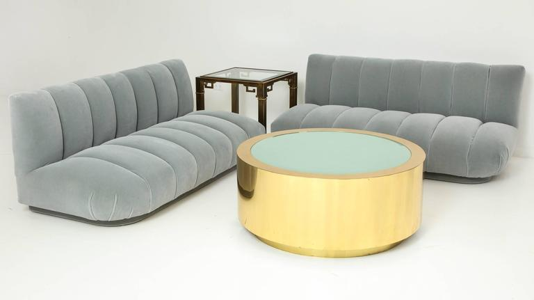 Fabulous Brass and Glass Coffee Table by Steve Chase For Sale 4