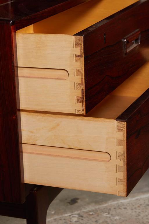Mid Century Rosewood Secretary Desk by Arne Wahl 8