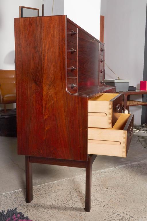 Mid Century Rosewood Secretary Desk by Arne Wahl 9