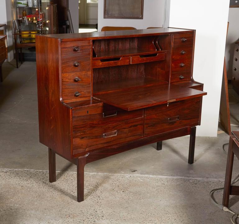 Mid Century Rosewood Secretary Desk by Arne Wahl 10