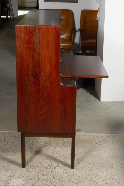Mid Century Rosewood Secretary Desk by Arne Wahl 11