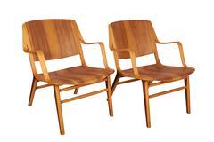 ax Chair by Hvidt & Molgaard, Pair