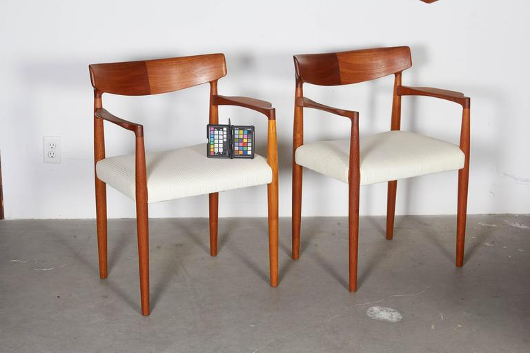 Danish Modern Arm Chairs By Knud Faerch, Pair 2