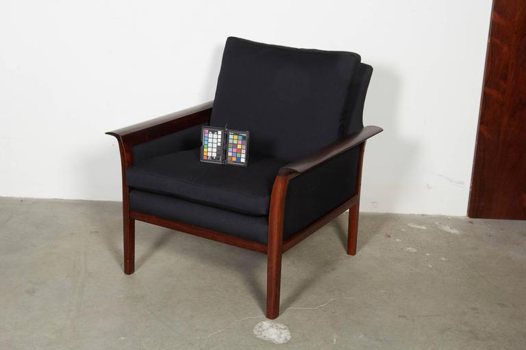Scandinavian Rosewood & Black Chairs, Pair 2