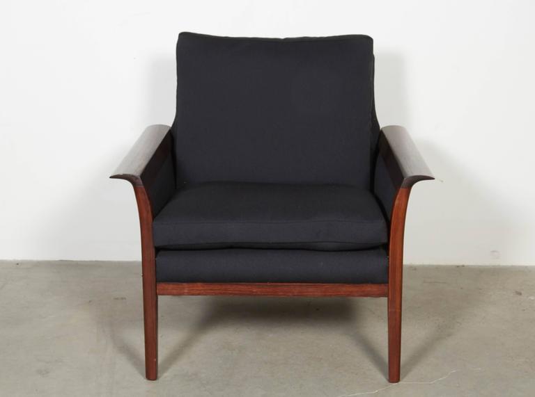 Scandinavian Rosewood & Black Chairs, Pair 5