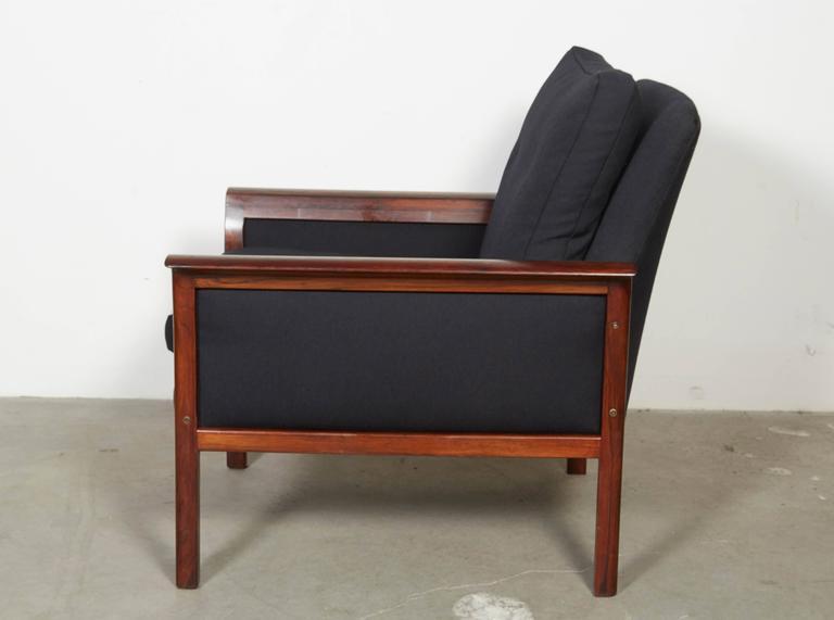 Scandinavian Rosewood & Black Chairs, Pair 6