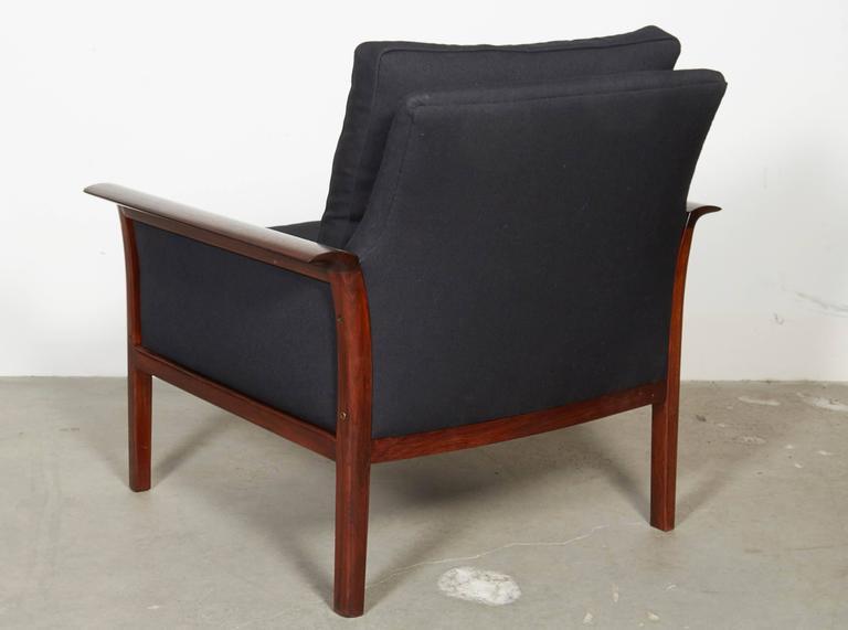 Scandinavian Rosewood & Black Chairs, Pair 7