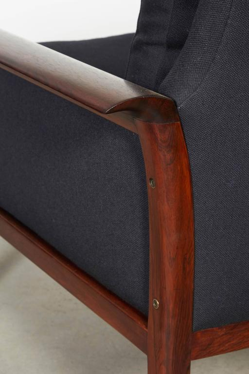 Scandinavian Rosewood & Black Chairs, Pair 8