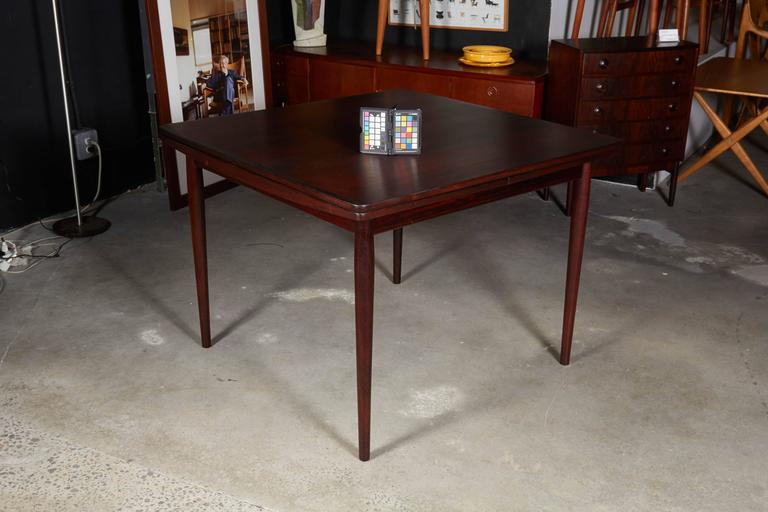 Rosewood Square Dining Table by Kurt Ostervig, Expandable 2