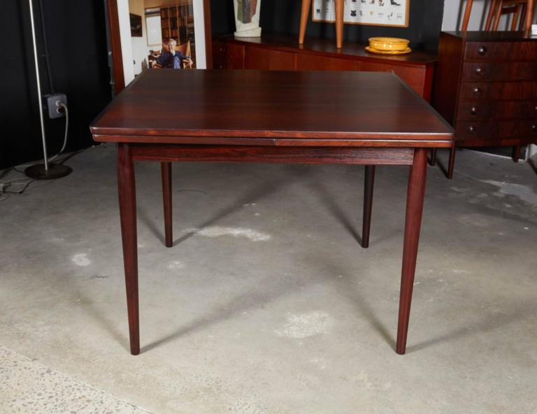 Rosewood Square Dining Table by Kurt Ostervig, Expandable 3