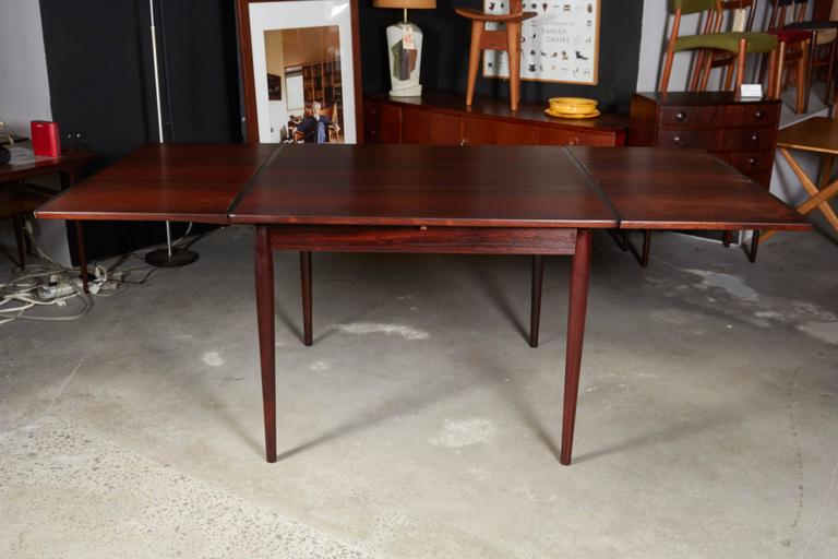 Rosewood Square Dining Table by Kurt Ostervig, Expandable 4