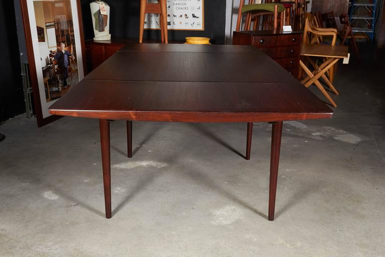 Rosewood Square Dining Table by Kurt Ostervig, Expandable 6