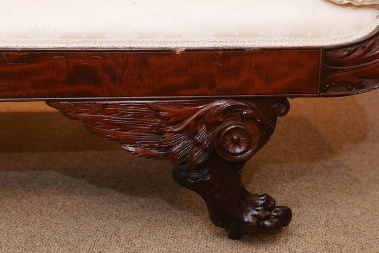 American Empire Settee, 19th Century Flame Mahogany In Excellent Condition In Houston, TX