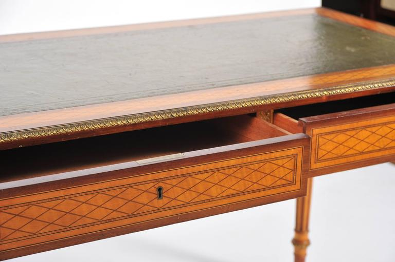 19th Century Parquetry Inlaid Writing Table, in the Manner of Donald Ross In Good Condition For Sale In Brighton, Sussex