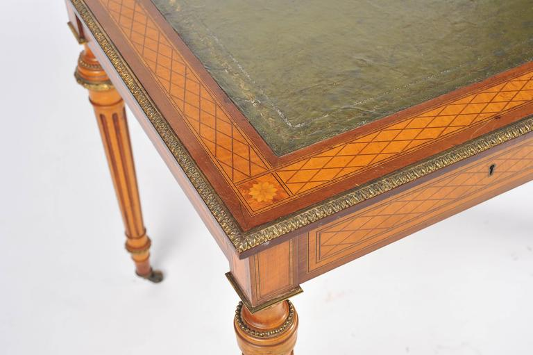 19th Century Parquetry Inlaid Writing Table, in the Manner of Donald Ross For Sale 1