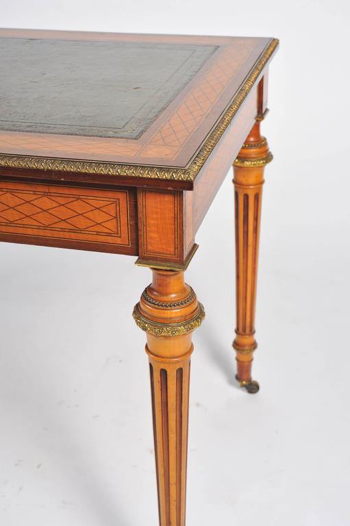 19th Century Parquetry Inlaid Writing Table, in the Manner of Donald Ross For Sale 2