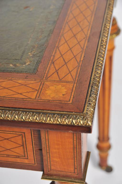 19th Century Parquetry Inlaid Writing Table, in the Manner of Donald Ross For Sale 3