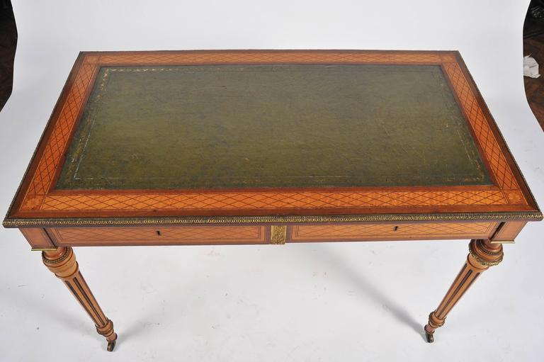 19th Century Parquetry Inlaid Writing Table, in the Manner of Donald Ross For Sale 4