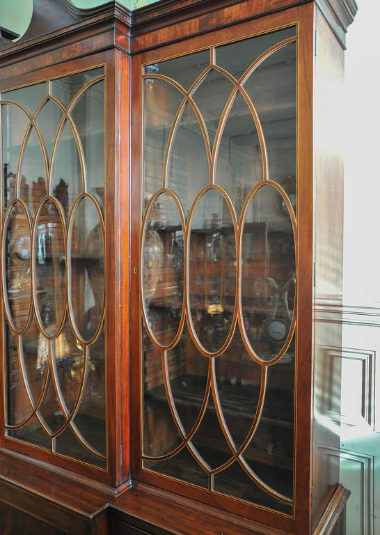 George III Period Library Breakfront Bookcase In Good Condition For Sale In Brighton, Sussex
