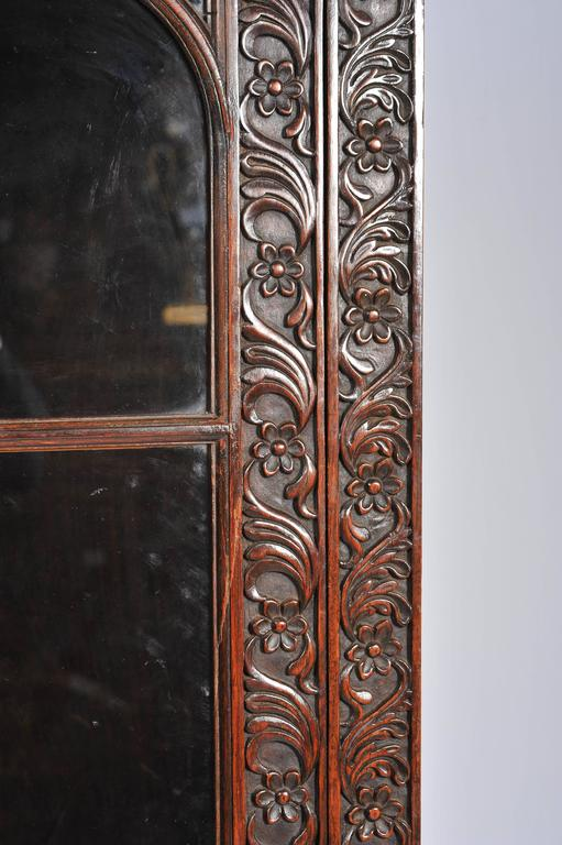 Hand-Carved Anglo-Indian Bookcase For Sale