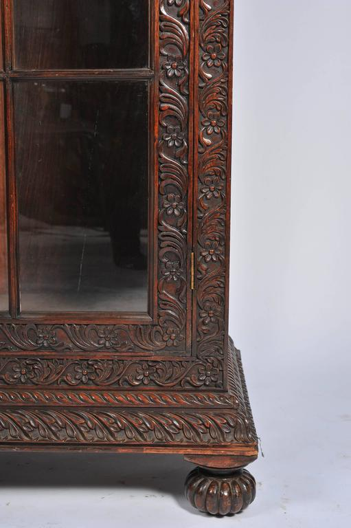 Padouk Anglo-Indian Bookcase For Sale