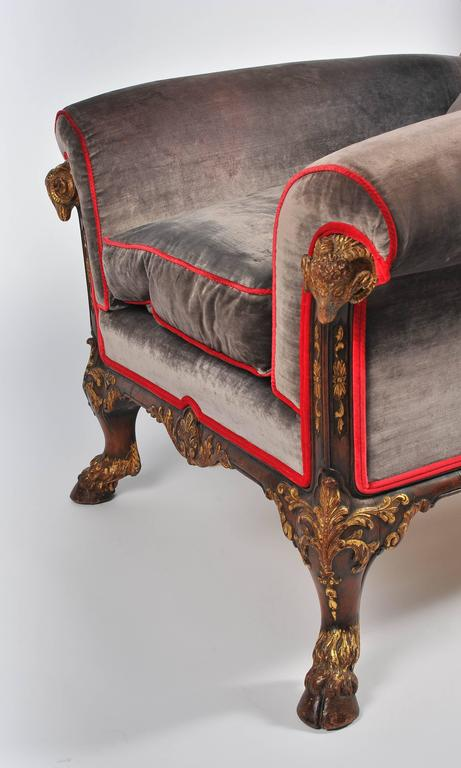 Classical Antique Style Bergere Sofa and Two Armchairs For Sale 2