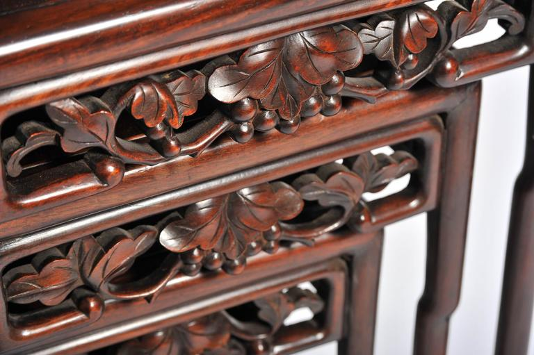Nest of Four 19th Century Chinese Hardwood Tables For Sale 2
