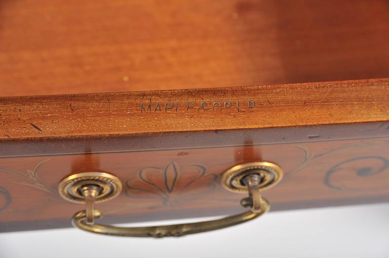 English Edwardian Satinwood Carlton House Desk For Sale