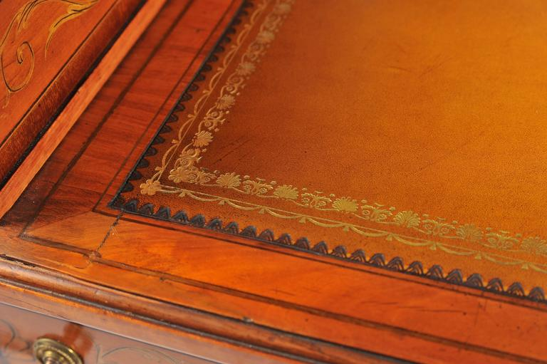 Edwardian Satinwood Carlton House Desk For Sale 3