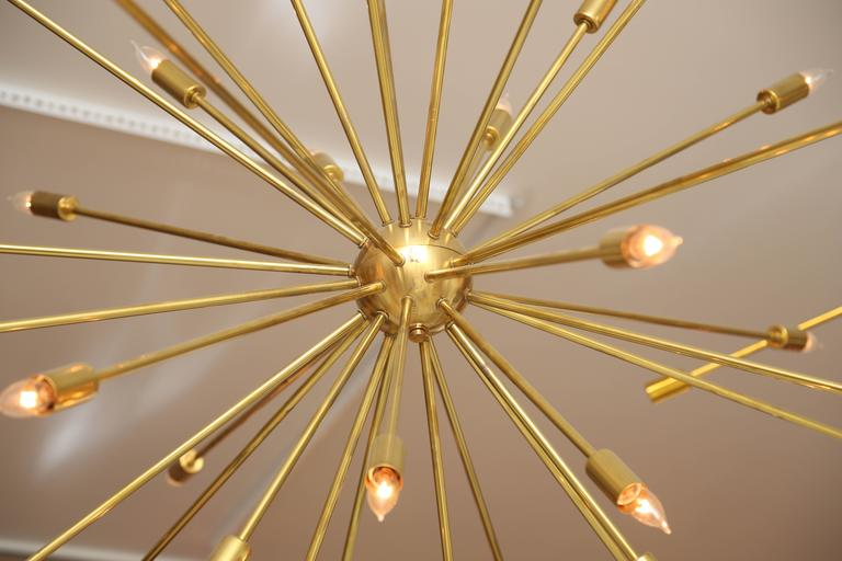 Large Brass Sputnik Light Fixture 3